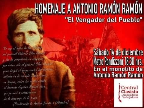 Antonio Ramón Ramón, el vengador del pueblo presente en la lucha popular