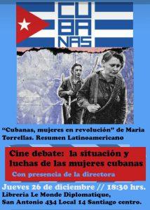 """Se estrena en Chile película documental """"Cubanas, mujeres en revolución"""""""