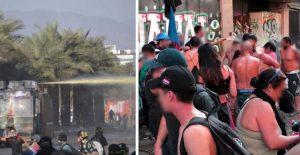 """Cada vez peor: La """"guerra química"""" del gobierno y carabineros en Plaza de la Dignidad y Pudahuel Sur"""