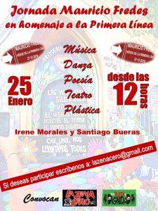 Convocan para el sábado 25 de enero a una jornada cultural en homenaje a Mauricio Fredes en Plaza de la Dignidad