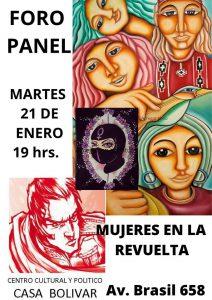 Foro Mujeres de la revuelta en Casa Bolívar