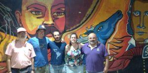 Encuentro de militantes del MPMR con compañeros del Frente Patria Grande argentino que visitan Chile y que están recogiendo diferentes visiones sobre el estallido social