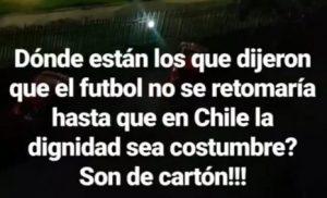 """""""Son de cartón"""": la crítica de Karen Gallardo por la reanudación del fútbol profesional en Chile"""