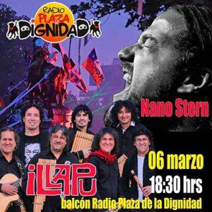 Illapu y Nano Stern protagonizarán concierto en Radio Plaza Dignidad