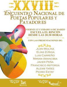 Invitan a participar en el XXVIII Encuentro Nacional de Poetas Populares y Payadores