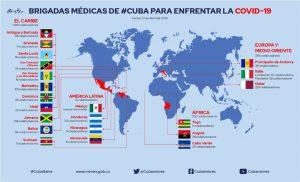 Cuba tiene brigadas médicas contra la Covid-19 en 21 países