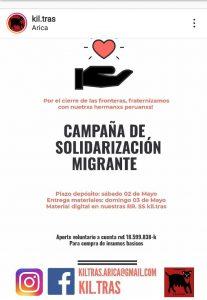 Arica. Campaña de Solidarización Migrante