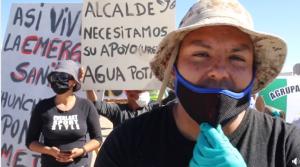 Protesta la comunidad de Chunchuri Poniente (Calama) por falta de agua potable