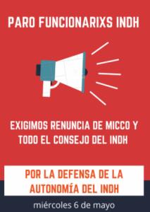 Funcionarios del INDH paralizan y exigen renuncia de Sergio Micco