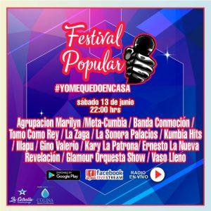 Festival quédate en casa de radio El Pueblo de Colina, 13 junio 22 horas, en el camino de la identidad popular comunal