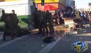Carabineros reprime a vendedores ambulantes en Concepción (vídeo)