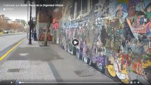 """Radio Plaza de la Dignidad: La """"limpieza"""" del GAM, una ofensa al arte de la revuelta social"""
