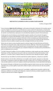 Arica: Apoyo al Pueblo Nación Mapuche