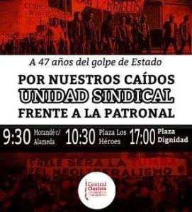Central Clasista: Viernes 11 de septiembre, a 47 años……