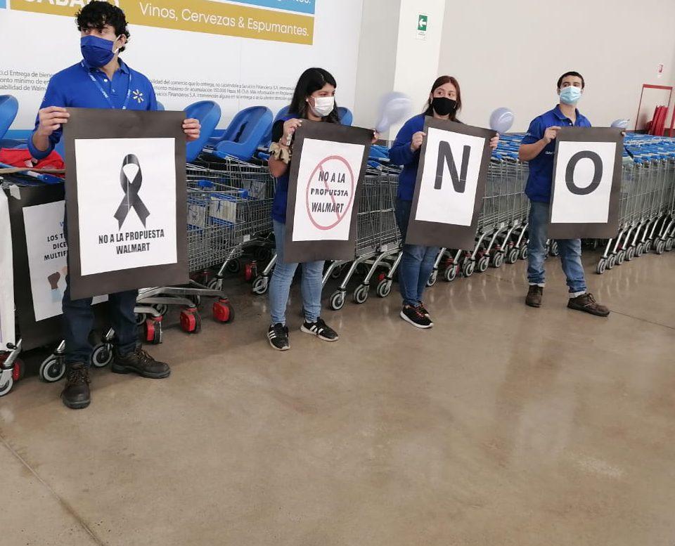 Trabajadores del Líder (Walmart) de Arica movilizados porque les quieren bajar los sueldos