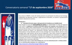 MPMR: Conservatorio semanal 17 de septiembre.