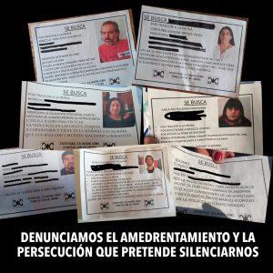 Carta de Dirigentes Sindicales en apoyo a las y los que luchan. NO MAS hostigamiento y persecución