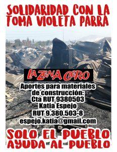 Solidaridad con la toma Violeta Parra