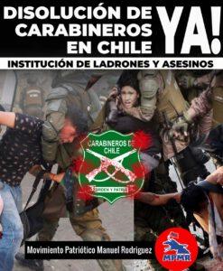 [VIDEO] Disolucion de carabineros ya ! MPMR