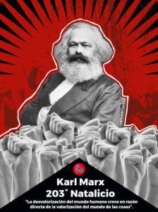 203° Aniversario Natalicio de Karl Marx